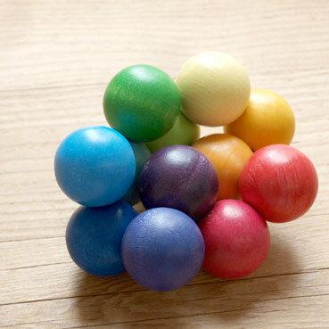 ラトル おしゃぶり 歯がため 木のおもちゃ ベビー 出産祝い 木製 おもちゃ 玩具 シュタイナー ドイツ GRIMM'S グリムス ベビー ビーズグラスパー