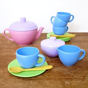 ままごと 食器 セット おもちゃ 食器 女の子 誕生日 出産祝い おしゃれ かわいい Green toys グリーントイズ ティーセット