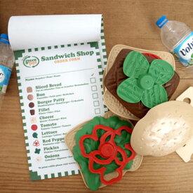 ままごと おもちゃ お店屋さん 食材 サンドイッチ 女の子 誕生日 かわいい Green toys グリーントイズ サンドイッチショップ