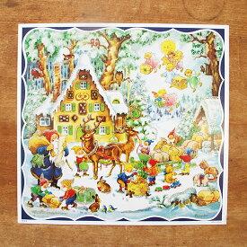 ドイツ製 クリスマス アドベントカレンダー ジンジャーブレッドハウス 【かわいい 飾り カレンダー サンタ インテリア】