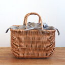 Grozi ラトビア製 かごバッグ バスケット インバッグ付き 柳 【カゴバッグ レディース おしゃれ かわいい ピクニック リネン】