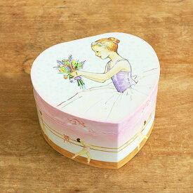 オルゴール バレリーナ 回転 宝石箱 ジュエリーボックス プレゼント 小物入れ おもちゃ 女の子 かわいい ENCHANTMINTS エンチャントミンツ オルゴール付きジュエリーBOX ハート