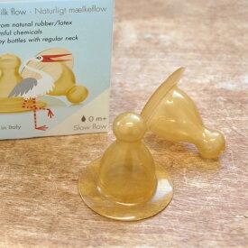 NATURSUTTEN ナチュアスッテン ガラス製 哺乳瓶用 ニップル 乳首 2個セット 哺乳瓶 ミルクボトル 天然ゴム おしゃぶり 赤ちゃん 出産祝い 新生児