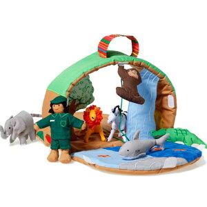 布おもちゃ ドールハウス 動物園 人形 ごっこ遊び女の子 男の子 出産祝い 誕生日 かわいいスウェーデン Oskar&ellen オスカー&エレン ワイルドアニマルパーク