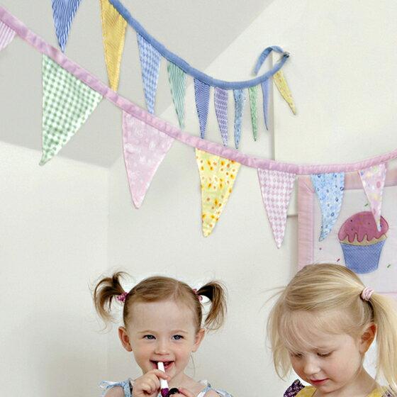 ガーランド フラッグ 子供部屋 誕生日 インテリア かわいい おしゃれ 北欧 Oskar&ellen オスカー&エレン フラッグガーランド マルチミニ