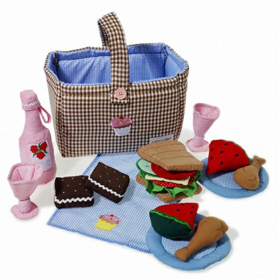 ごっこ遊び 布おもちゃ 女の子 かわいい 出産祝い 誕生日 食材 セット ケーキ サンドイッチ スウェーデン Oskar&ellen オスカー&エレン ピクニックかご