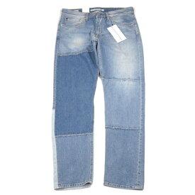 Calvin Klein Jeans【3種のデニムを繋ぎ合わせ★緩急あるシルエット】デニム パンツ【ネイビー 淡紺】新品 カルバンクライン ジーンズ メンズ DKNY ダナキャラン Armani Exchange アルマーニエクスチェンジ G-STAR ジースター DIESEL ディーゼル RRL