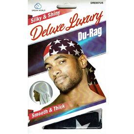 NO BRAND【星条旗バージョン★光沢のあるスムースタイプ】Deluxe Du-Rag【レッド/ネイビー/ホワイト】新品 ドゥーラグ HIP HOP 衣装 ヒップホップ ダンス 男女兼用 アメリカ 国旗 USA DU RAG TIE DOWN CAP キャップ B系 NEW ERA ニューエラ NEW YORK買い付け ニューヨーク
