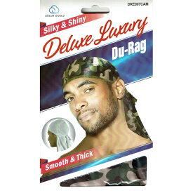 NO BRAND【迷彩バージョン★光沢のあるスムースタイプ】Deluxe Du-Rag【ウッドランドカモ】新品 ドゥーラグ HIP HOP 衣装 ヒップホップ ダンス 男女兼用 アメリカ 国旗 USA DU RAG TIE DOWN CAP キャップ B系 NEW ERA ニューエラ NEW YORK買い付け ニューヨーク