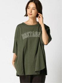 [Rakuten Fashion]ロゴプリントTシャツ Samansa Mos2 サマンサモスモス カットソー Tシャツ カーキ ブラウン ホワイト グレー【送料無料】