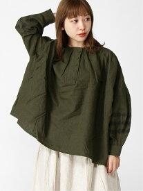 [Rakuten Fashion]袖刺繍ブラウス Samansa Mos2 サマンサモスモス シャツ/ブラウス 長袖シャツ グレー ベージュ ブラウン【送料無料】