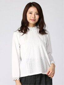 [Rakuten Fashion]スタンドネックレースカットソー Samansa Mos2 サマンサモスモス カットソー Tシャツ ホワイト ブラック ベージュ【送料無料】