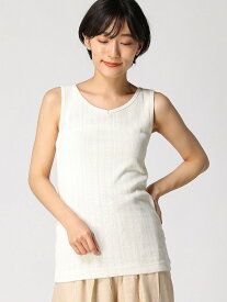 [Rakuten Fashion]【SALE/30%OFF】前後2WAYパターンメッシュノースリーブ Samansa Mos2 サマンサモスモス カットソー ノースリーブカットソー ホワイト グレー ベージュ【RBA_E】