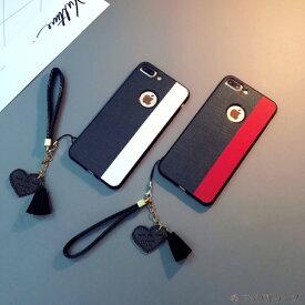 28d8c2de8f 【 送料無料 / メール便 】 iPhoneX iPhone8 iPhone7 iPhone6s 6 ケース カバー バイカラー デニム タッセル  レザー 革 シンプル 薄型 iPhone ケース アイホン ...