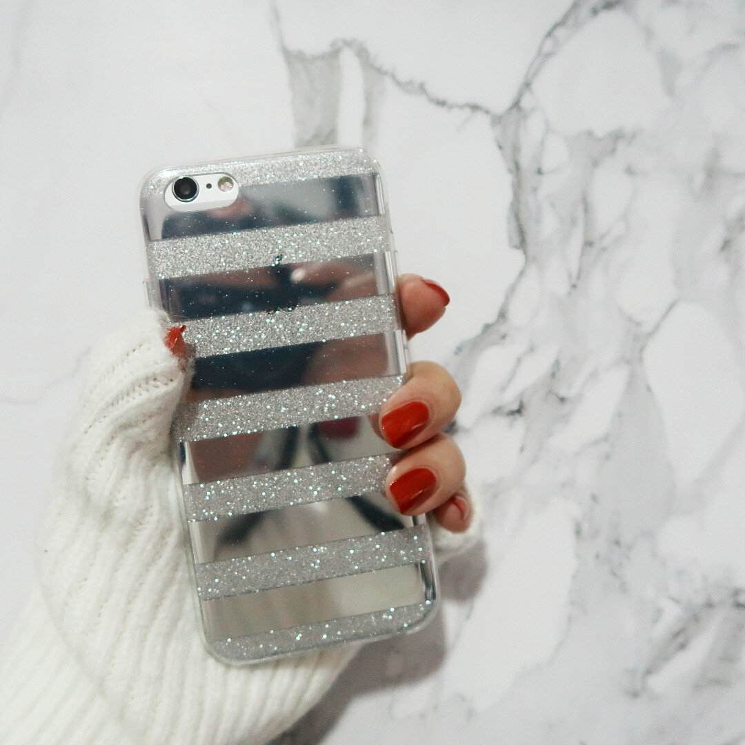 【 送料無料 / メール便 】 iPhone8 iPhone7 iPhone6s 6 ケース カバー ボーダー グリッター キラキラ ラメ 大人 かわいい 人気 iPhone ケース アイホン アイフォン アイフォン ケース iPhoneケース スマホケース スマートフォン カバー 未発売 特典 即納