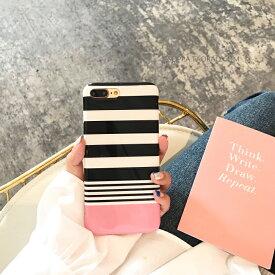 【 送料無料 / メール便 】 iPhoneXS Max X XR iPhone8 iPhone7 Plus iPhone6s ケース ボーダー ピンク かわいい おしゃれ 人気 薄型 iPhone ケース アイホン アイフォン アイフォン ケース iPhoneケース スマホケース スマートフォン カバー 未発売 特典 即納