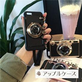 【 送料無料 / メール便 】 iPhone11 XS X iPhone8 7 SE 6s ケース カバー カメラ風 カメラ ネック ストラップ付 レトロ風 人気 スリム iPhone ケース アイホン アイフォン アイフォン ケース iPhoneケース スマホケース スマートフォン カバー 未発売 特典 即納