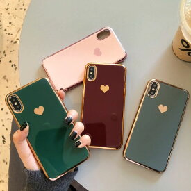【 送料無料 / メール便 】 iPhone11 Pro Max iPhone8 iPhone XS X XR 7 ケース ハート 金 光沢 シリコン 人気 かわいい ワンポイント iPhone ケース アイホン アイフォン アイフォン ケース iPhoneケース スマホケース スマートフォン カバー 未発売 特典 即納