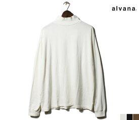 アルヴァナ alvana ロンT アルティメイト ハイネック モックネック 長袖 Tシャツ 吊り天竺 オーガニックコットン ULTIMATE TURTLENECK L/S TEE SHIRTS MADE IN JAPAN (ACS-0038)