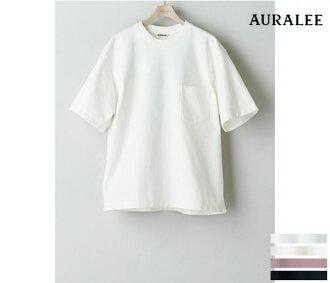 /AURALEE 在日本進行了口頭單口相聲 '' 曾經擠滿了重量級口袋 T 恤戳 T (A6ST01SU TEE) 532P26Feb16