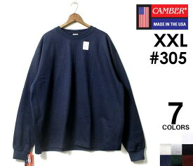 CAMBER キャンバー ロンT 長袖 Tシャツ XXL ビッグサイズ マックスウエイト 305 MAX WEIGHT LONG SLEEVE T-SHIRTS BIG SIZE MADE IN USA (305-MAX-LONG-T-XXL)