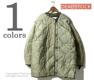 (M65-FISH-LINER) DEADSTOCK U.S.ARMY M-65 fish tale parka quilting liner jacket