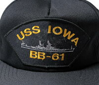 デッドストック/DEADSTOCKアメリカ製USSIOWABB-61ミリタリーキャップ(USS-IOWA-BB-61-CAP)