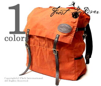 FROST RIVER made in USA '' Hunter Orange Pack' ' large daypack-Luc-cane bag (FR-130)