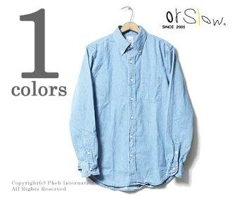 orSlow made in Japan '' bleach' ' button-down shirt (01 - 8012 - 99-BLEACH)