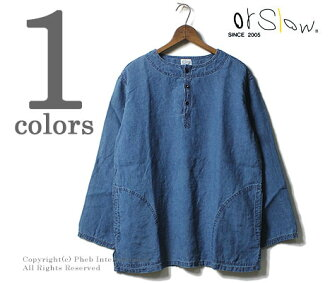 orSlow made in Japan '' indigo'' pullover shirt (03-8044-01)