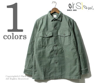 orSlow made in Japan ' ' green used ''U.S.ARMY Army military shirts (01-8045-216)