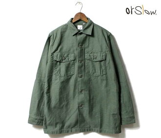 orSlow made in Japan ' ' green ''U.S.ARMY Army military shirts (01-8045-16)