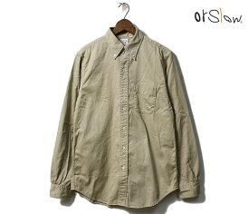 orSlow オアスロウ シャツ ボタンダウンシャツ チノツイル 2019FW 01-8012 BUTTON DOWN SHIRT MADE IN JAPAN (01-8012-40)