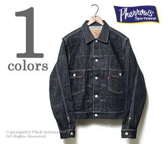 PHERROW'S(PHERROWS) made in Japan 50s model denim jacket  (407J-OW one wash)