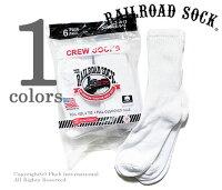 """レイルロードソック/RAILROADSOCKアメリカ製""""ソリッドホワイト""""メンズ6Pクルーソックス/靴下【MEN'S6PAIRCREW-SOLIDWHITE】"""