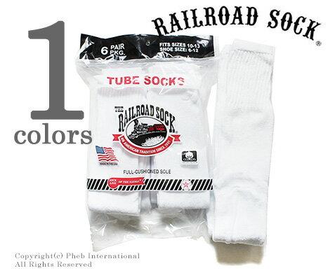 レイルロードソック/RAILROAD SOCK アメリカ製 ''6P TUBE WHT''チューブソックス/靴下(MEN'S 6 PAIR TUBE-SOLID WHITE(6075))