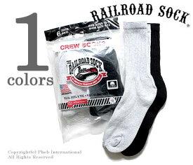レイルロードソック RAILROAD SOCK ソックス 靴下 6P CREW BLK&GRY クルー MADE IN USA (MEN'S 6 PAIR CREW-3BLACK 3GREY(6091))
