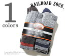 レイルロードソック RAILROAD SOCK ソックス 靴下 6P MERINO WOOL MEN'S 6 PAIR BAND MADE IN USA (2842(2966))