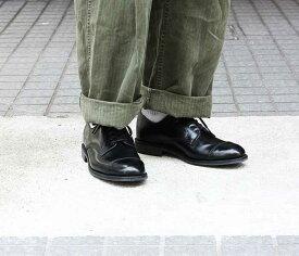 サンダース SANDERS ミリタリーダービー シューズ 靴 キャップトゥ ブラック MILITARY DERBY SHOES BLACK MADE IN ENGLAND (1128)