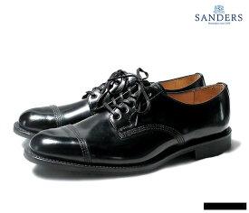 【春夏20%OFFセール】 サンダース SANDERS ミリタリーダービー シューズ 靴 キャップトゥ ブラック 1128 MILITARY DERBY SHOES BLACK MADE IN ENGLAND (1128-BLACK)