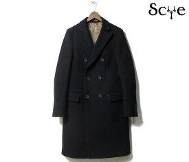 SCYE BASICS サイベーシックス コート ウールカシミヤメルトン ダブルブレスト 6B チェスターフィールドコート Wool Cashmere Melton Double Breasted Coat 2019FW MADE IN JAPAN (5119-73542)