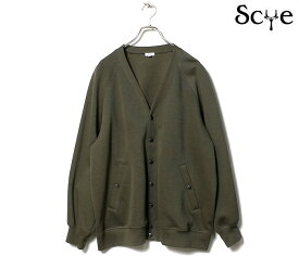 SCYE サイ ダブルフェイス スナップカーディガン Double Faced Jersey Cardigan (1121-23216)
