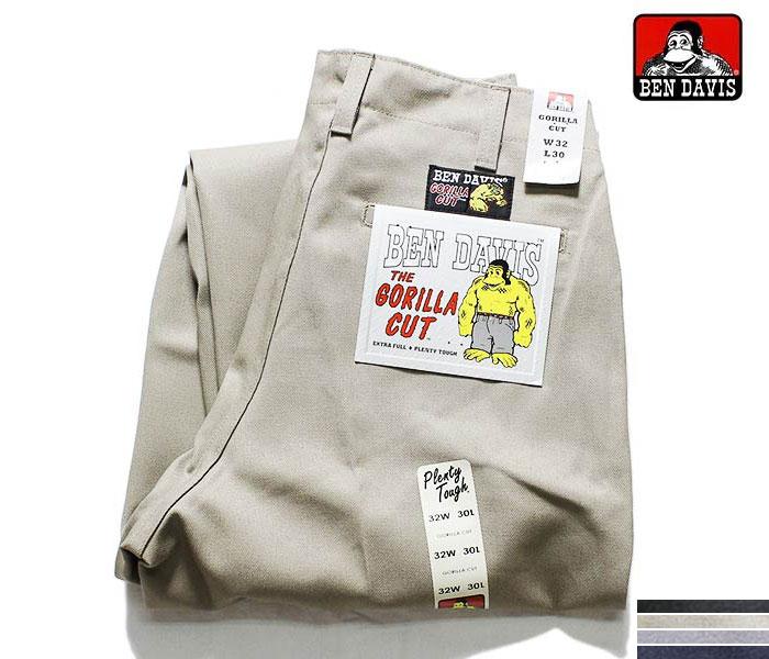 ベンデイビス/BEN DAVIS ゴリラカット 極太 ワイドストレート チノパン ワークパンツ GORILLA CUT PANTS (BDUS-5700-GORILLA-CUT)
