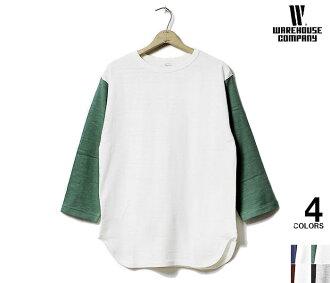 WAREHOUSE made in Japan 7-sleeve baseball t-shirt (4800-BASEBALL-PLAIN)