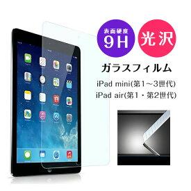 保護フィルム 強化ガラス iPadmini iPad Air iPadmini&iPadair 9hガラスフィルム ガラスフィルム ラウンドカット 衝撃保護 飛散しない 傷防止 s203