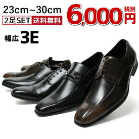 送料無料 ビジネスシューズ 20種類から選べる2足セット ビジネス メンズ スリッポン ストレートチップ スクエアトゥ ロングノーズ 脚長 紳士靴 靴 メンズ トレンド 小さいサイズ ビッグサイズ 福袋