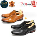ビジネスシューズ お得な福袋 セット 送料無料 2足で8,000円(税別) 本革 日本製 革靴 メンズ 17種類