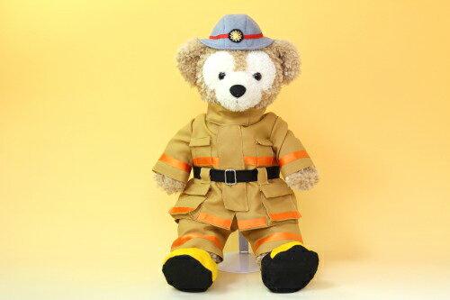 ダッフィーSサイズ用コスチューム、ウェルカムドール、消防士防火服とヘルメットのセット