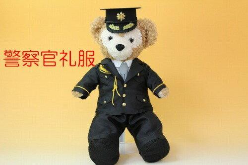 ダッフィーSサイズ用コスチューム、ウェルカムドール、警察官儀礼服と帽子のセット
