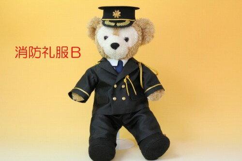 ダッフィーSサイズ用コスチューム、ウェルカムドール、消防礼服Bと帽子のセット